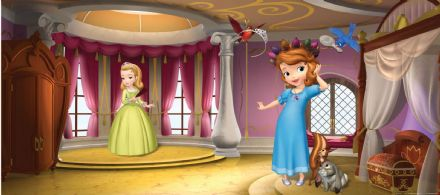 Sofia Princess Panoramic mural wallpaper 202x90cm